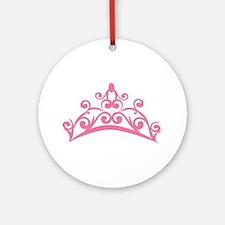 Pink Crown Round Ornament