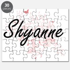 Shyanne Artistic Name Design with Butterfli Puzzle