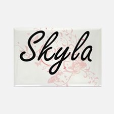 Skyla Artistic Name Design with Butterflie Magnets