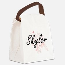 Skyler Artistic Name Design with Canvas Lunch Bag