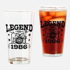 Legend Since 1986 Drinking Glass