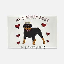 Cute Dog angels Rectangle Magnet