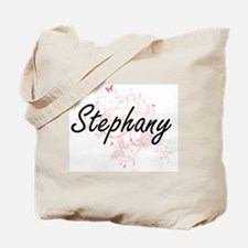 Stephany Artistic Name Design with Butter Tote Bag