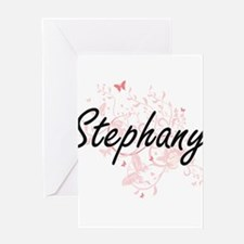 Stephany Artistic Name Design with Greeting Cards