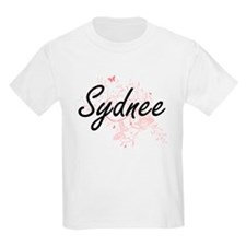 Sydnee Artistic Name Design with Butterfli T-Shirt