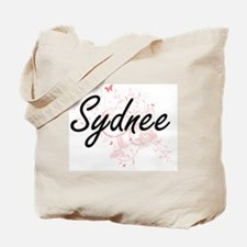 Sydnee Artistic Name Design with Butterfl Tote Bag