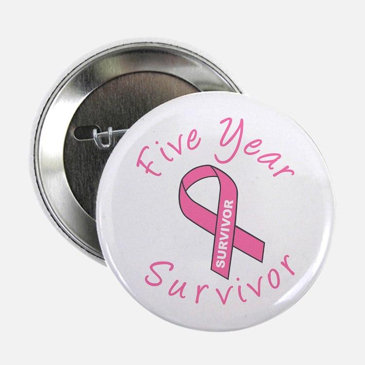 Five Year Survivor Button