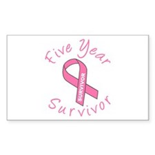 Five Year Survivor Rectangle Decal