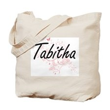 Tabitha Artistic Name Design with Butterf Tote Bag