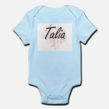 Talia Artistic Name Design with Butterfl Body Suit