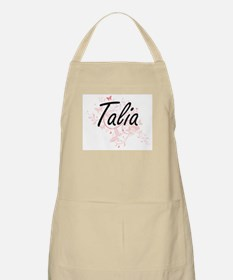Talia Artistic Name Design with Butterflies Apron