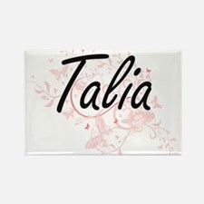 Talia Artistic Name Design with Butterflie Magnets