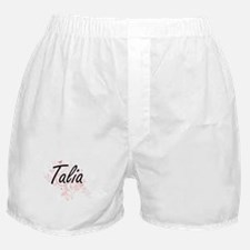 Talia Artistic Name Design with Butte Boxer Shorts