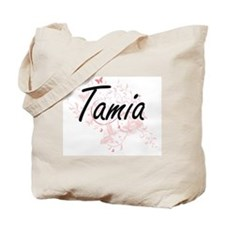 Tamia Artistic Name Design with Butterfli Tote Bag