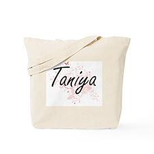 Taniya Artistic Name Design with Butterfl Tote Bag