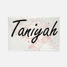 Taniyah Artistic Name Design with Butterfl Magnets
