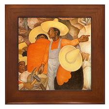 Diego Rivera Agitator Art Framed Tile