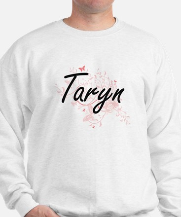 Taryn Artistic Name Design with Butterf Jumper