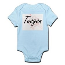 Teagan Artistic Name Design with Butterf Body Suit