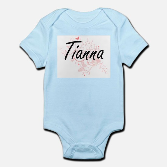 Tianna Artistic Name Design with Butterf Body Suit