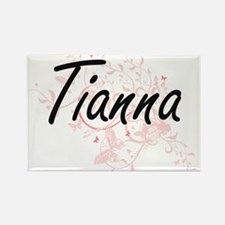 Tianna Artistic Name Design with Butterfli Magnets
