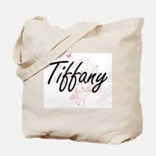 Tiffany Artistic Name Design with Butterf Tote Bag