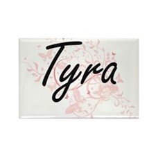 Tyra Artistic Name Design with Butterflies Magnets