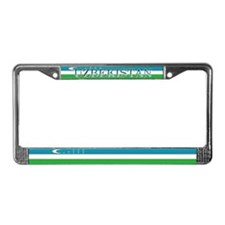 Uzbekistan Blank Flag License Plate Frame