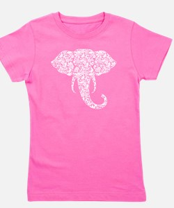 Lace Elephant Girl's Tee