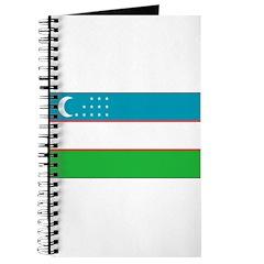 Uzbekistan Blank Flag Journal