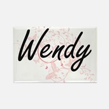 Wendy Artistic Name Design with Butterflie Magnets