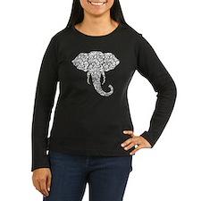 Lace Elephant Long Sleeve T-Shirt