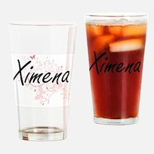 Ximena Artistic Name Design with Bu Drinking Glass