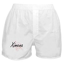 Ximena Artistic Name Design with Butt Boxer Shorts