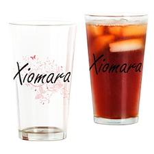 Xiomara Artistic Name Design with B Drinking Glass