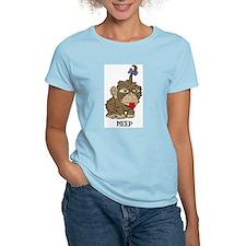 Meep Monkey Women's Pink T-Shirt