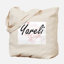 Yareli Artistic Name Design with Butterfl Tote Bag