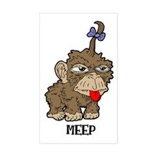 Meep Monkey Rectangle Decal