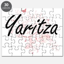 Yaritza Artistic Name Design with Butterfli Puzzle