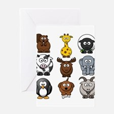 Animals cartoon Greeting Cards