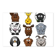 Animals cartoon Postcards (Package of 8)
