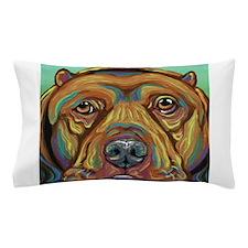 Rainbow Pit Bull Dog Pillow Case
