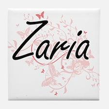 Zaria Artistic Name Design with Butte Tile Coaster