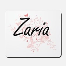 Zaria Artistic Name Design with Butterfl Mousepad