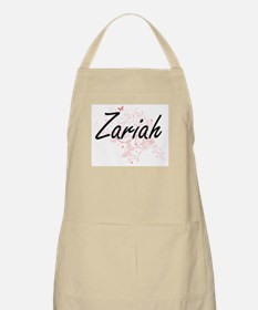 Zariah Artistic Name Design with Butterflies Apron