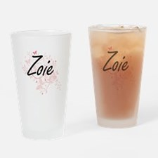 Zoie Artistic Name Design with Butt Drinking Glass