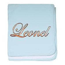 Gold Leonel baby blanket