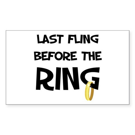 Last fling before the Ring Rectangle Sticker
