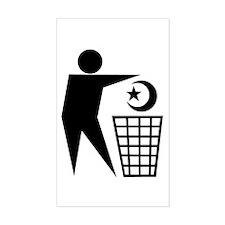 Trash Religion (Muslim Version) Sticker (Rectangul