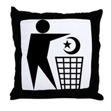 Trash Religion (Muslim Version) Throw Pillow